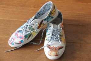 Eeveelution shoes by Artemisic