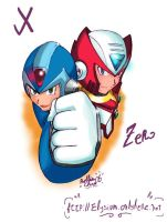X and Zero again by Soul-Rokkuman
