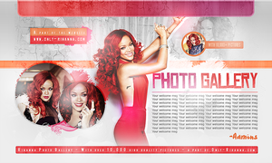 Rihanna Gallery header by CrimsonHeartx