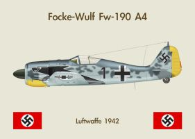 Fridge Magnet Fw190A4 1 by WS-Clave