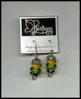 yellowgreen earing by DesignsGP