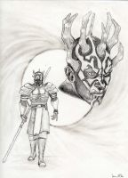 Brothers of Darkness: Maul and Savage by Darthmezcal