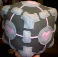 companion cube by grumble-king2
