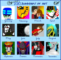 2010 Art Meme by DragonAnimeParty