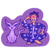 PokeFree!- Rei and Espeon by sunami56