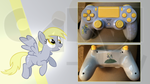 Custom PS4 Controller Derpy from My Little Pony by CARDI-ology