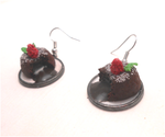 Miniature Lava cake earrings by MiniSweetx