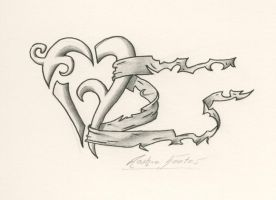 Heart Tattoo, Outlined V. by jasflip