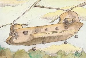 2nd Annviversary Chinook by jrfieldillustration