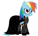 Rainbow Factory: Dashie uniform vector by WaltherP38ita