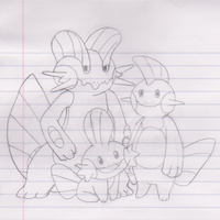 Mudkip Family by CharmandersFlame