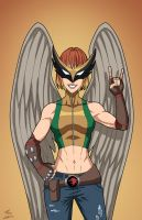 Hawkgirl (Earth-27) commission by phil-cho