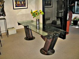 I-Beam Conference Table by ou8nrtist2