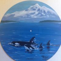 Vinyl Art-Mount Baker and Killer Whales by CorkyII