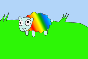 RAINBOW SHEEP by QueenOfNewYork
