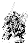Ebas Viking inks by JosephLSilver