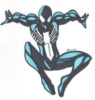 Spidey Series: Black Suit Spider-Man by RobertMacQuarrie1