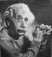Einstein Charcoal by joshing88