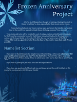 Frozen Anniversary Project Poster: Namelist by DeathNyan