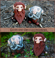 Gloin and Oin Clay Figurines by Comsical