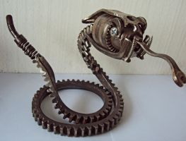 Steampunk Rattlesnake. by metalmorphoses