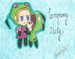 Germany and Italy by xOctober-Rain