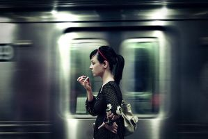 Subway Love by Scottmettsphoto