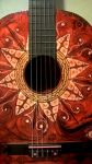 Red Flower Guitar by gdsfgs