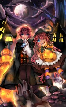 + Halloween eve + by Miyalin