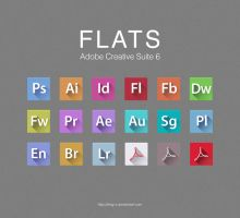 FLATS Adobe CS6 Icons by RKay-x