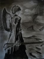 bleach charcoal drawing by LauraHaro1994