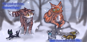.:WARRIORS:. Leafpool's Wish: Be good to them. by owls1999
