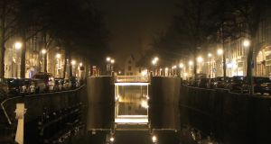 Bridge over Canal, Pale Lights by CyranoInk