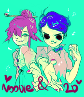 Noodle and 2D by MYMguru