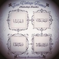 Lovely Vintage Frames Free Photoshop Brushes by Romenig