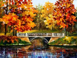 Fall Blinks by Leonid Afremov by Leonidafremov