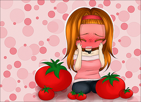 Little tomato's face (? by NarukoMegpoid