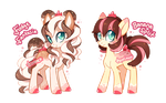 MLP Adoptable Auction ~ Sundae Sisters (CLOSED) by tsurime