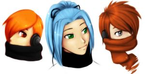 Headshots 1-3 by Tea-desu