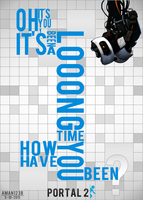 Portal 2 Typographic Poster by Aman1238