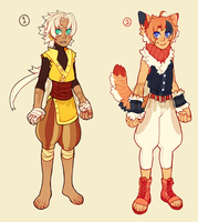 Human-Kemono Adopts (open!) by PhloxeButt
