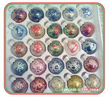 25 Advent Ornaments by Cupcake-Kitty-chan