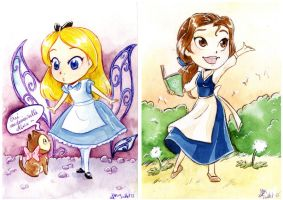 .: Mini Alice and Belle :. by xSkyeCrystalx