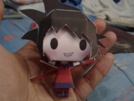 Chibi Goku papercraft by daigospencer