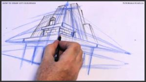 Learn how to draw city buildings 017 by drawingcourse