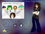 Teenage South Park-Megan Pendragon reference sheet by ShardianofWhiteFire