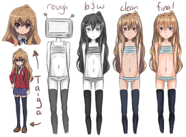 Taiga... drawn like 4 times by Kirbeee