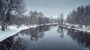 River Tay, Ontario, in Winter by Nini1965