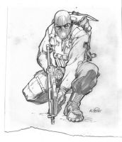 Beachhead First Sketch by KlausScherwinski