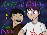 Happy Birthday to Konoira!!! (and early for Kaito) by MaiMaiLim